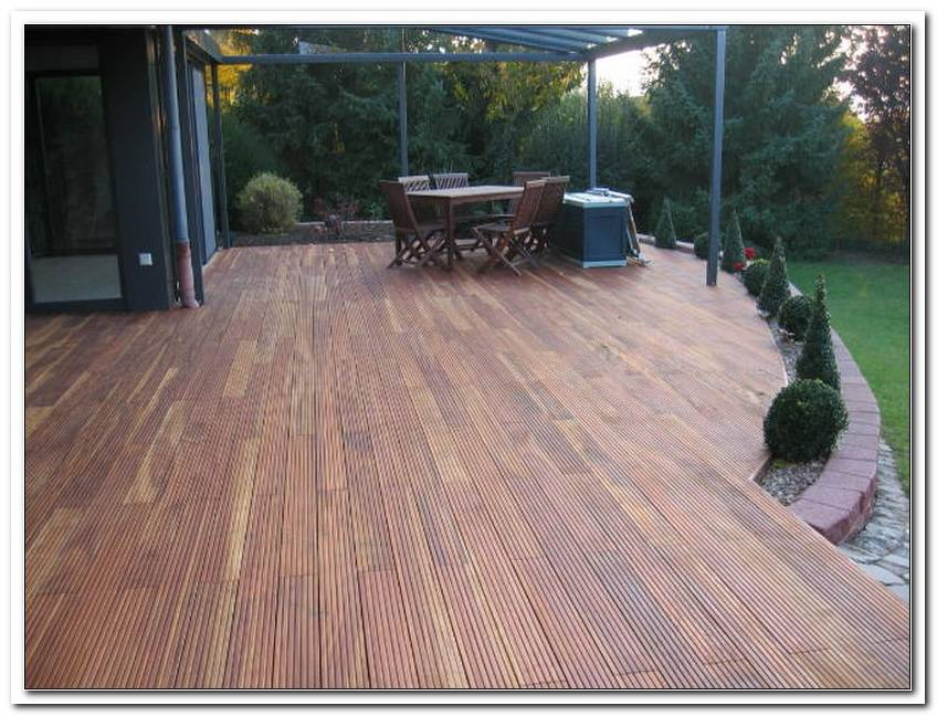 Terrasse Tropenholz