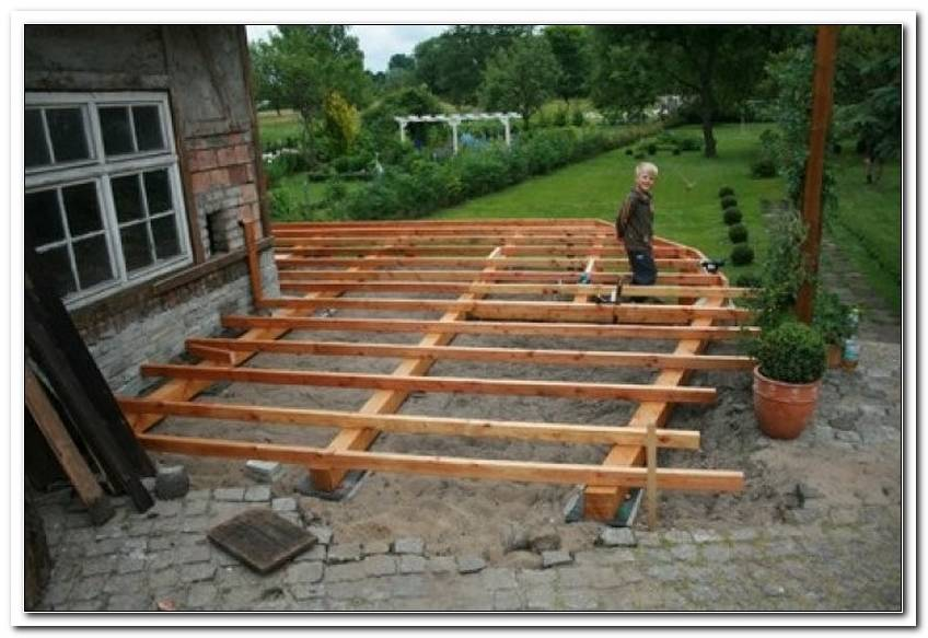 Terrasse Unterbau Holz