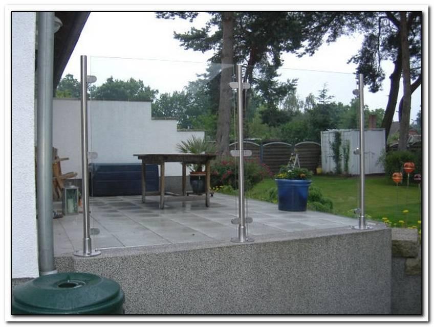 Terrasse Windschutz Aus Glas