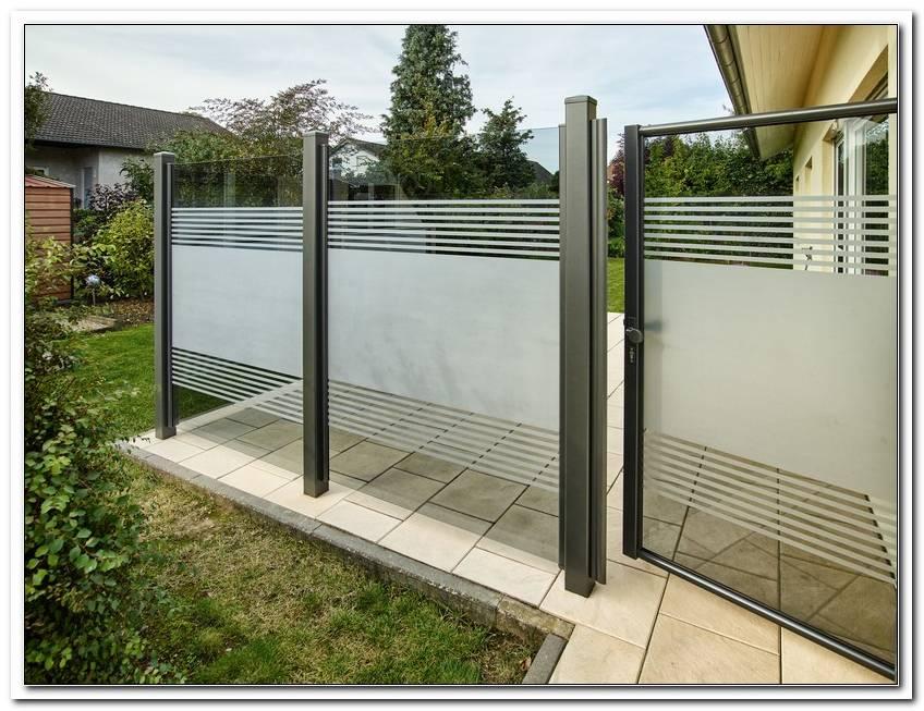 Terrassen Abtrennung Sichtschutz Glas