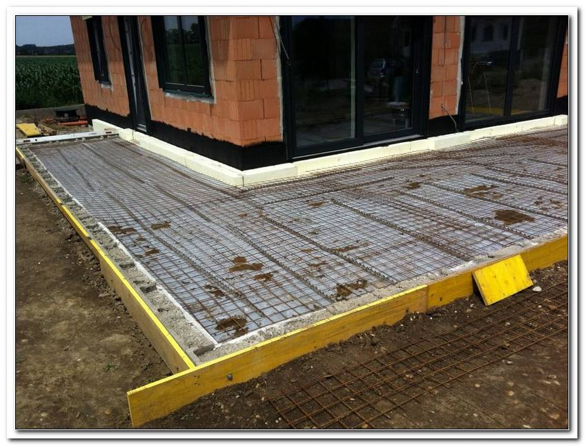 Terrassen Bodenplatte Betonieren