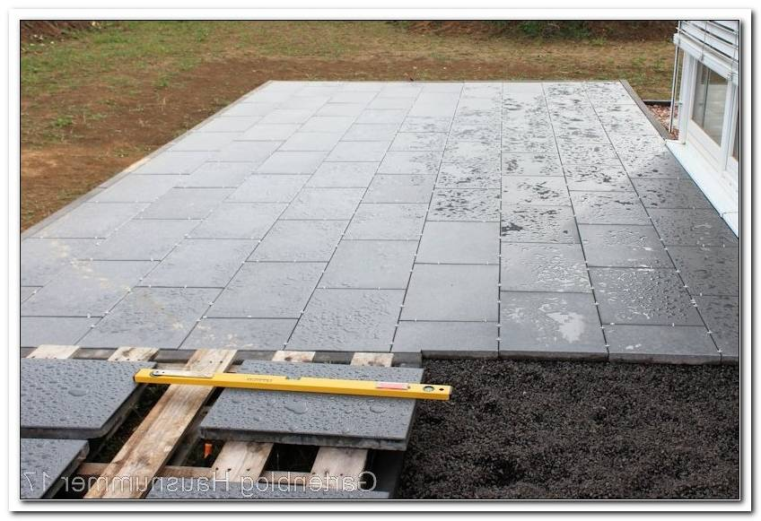 Terrassen Bodenplatten Verlegen