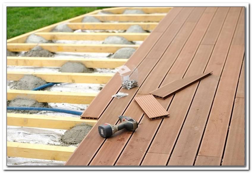 Terrassen Holzboden Verlegen