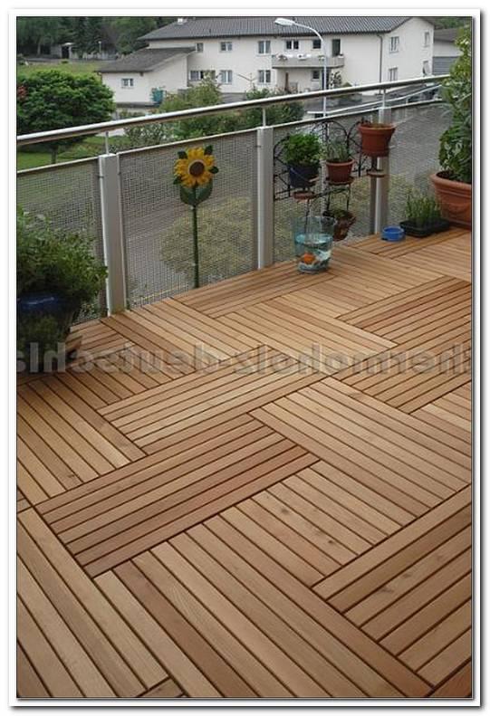 Terrassen Holzfliesen