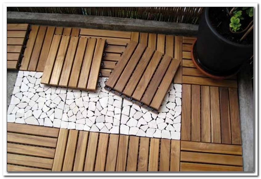 Terrassen Holzplatten Klicksystem