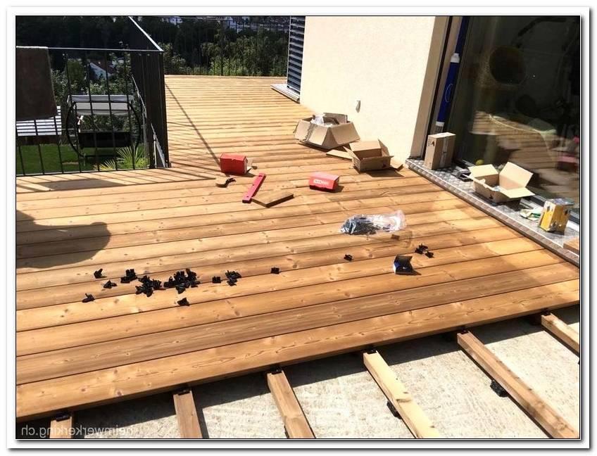 Terrassen Holzplatten Verlegen