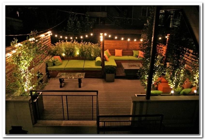 Terrassen Lichterketten