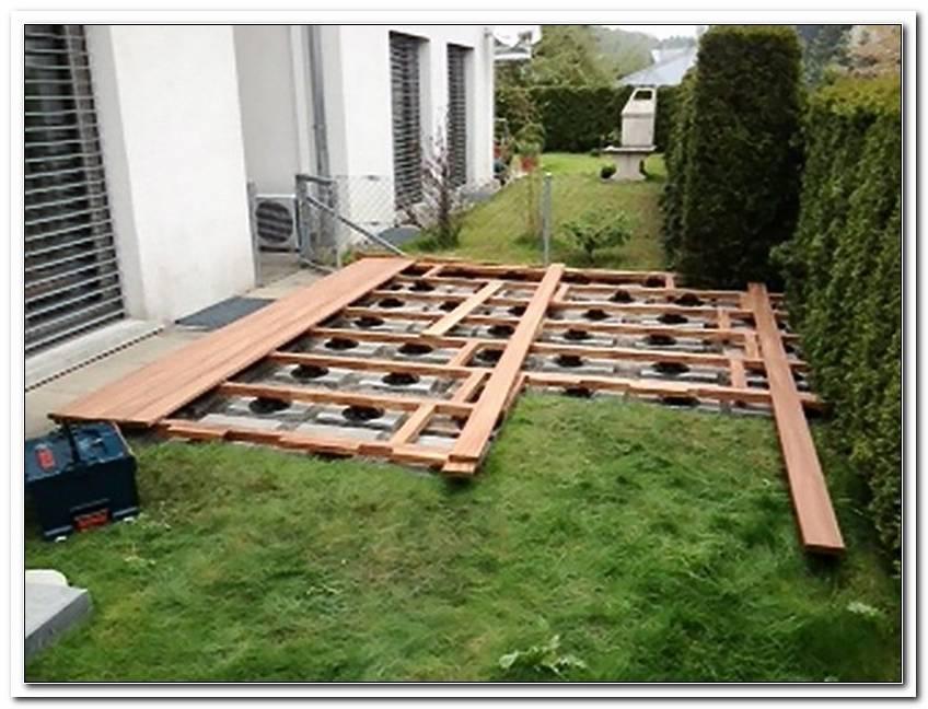 Terrassen Unterkonstruktion Auf Rasen