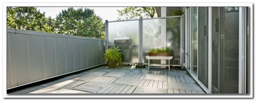 Terrassen Windschutz Plexiglas