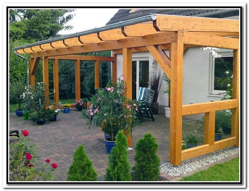 Terrassen?Berdachung Aus Holz Bauen