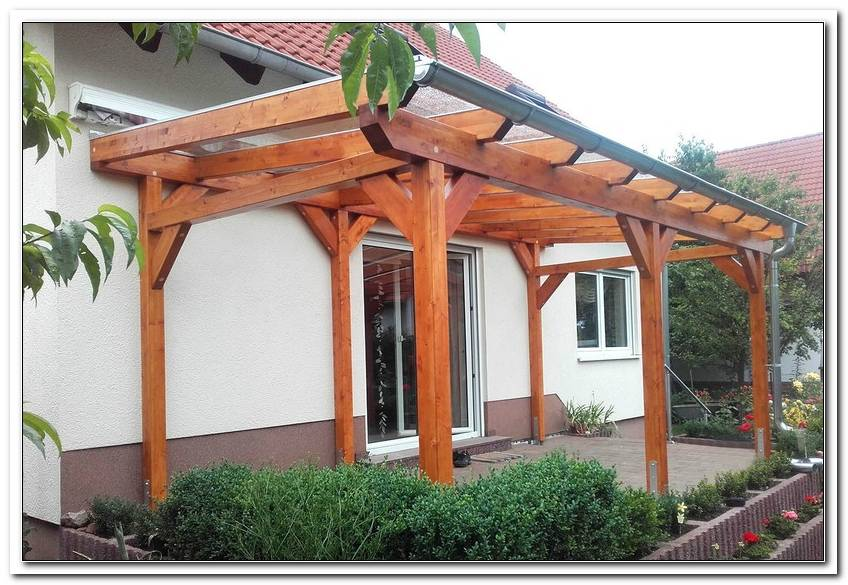 Terrassen?Berdachung Aus Holz Freistehend