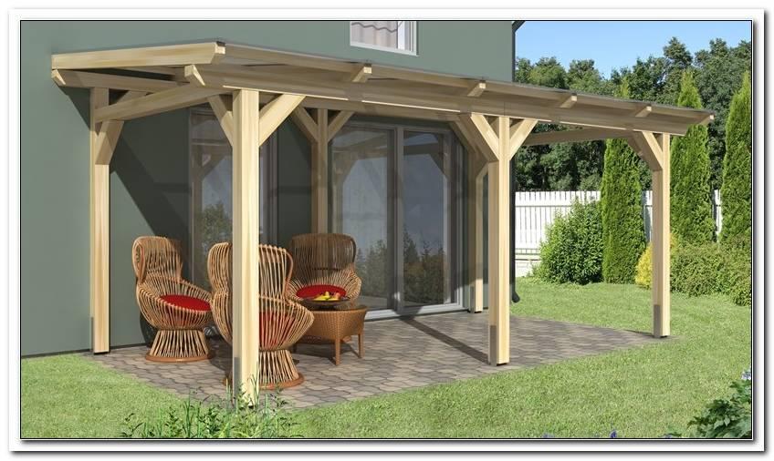 Terrassen?Berdachung Aus Holz Mit Doppelstegplatten