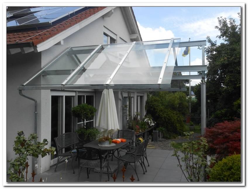 Terrassen?Berdachung Glas Freitragend