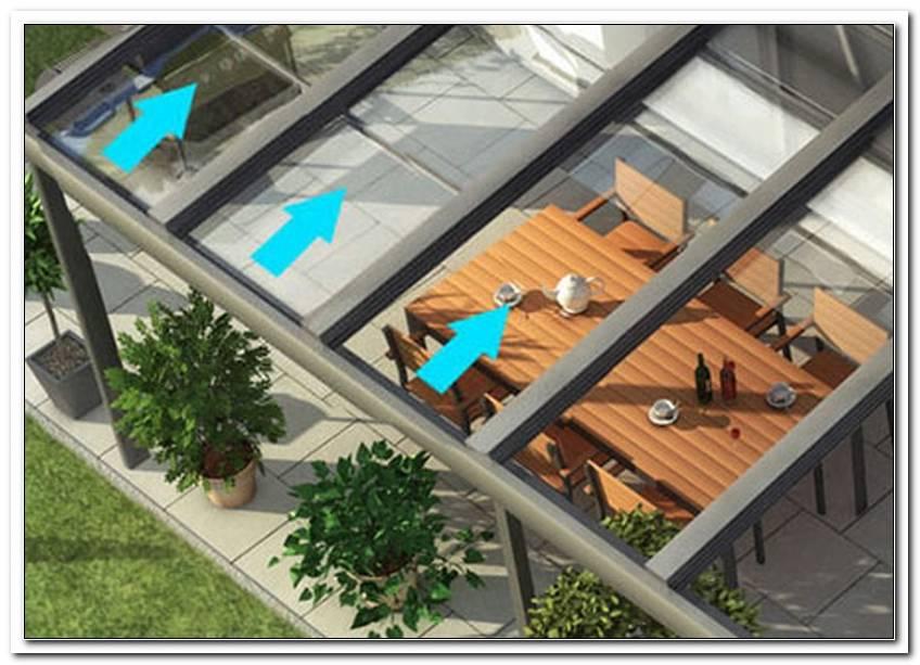 Terrassen?Berdachung Glas Schiebedach
