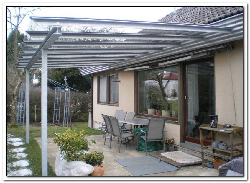 Terrassen?Berdachung Glas Stahl Preis