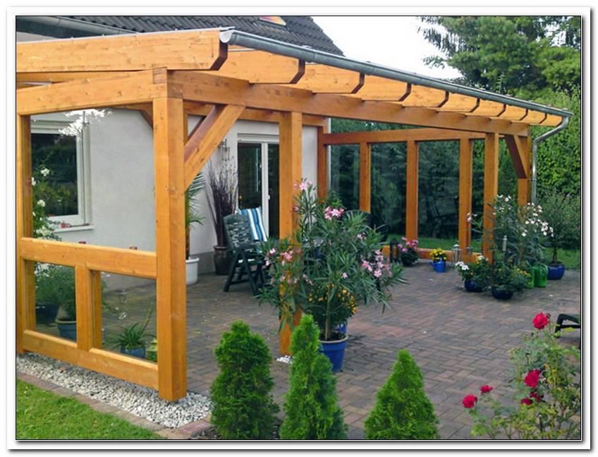 Terrassen?Berdachung Holz Fachwerk