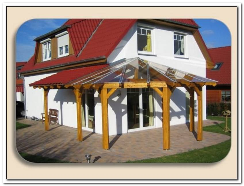 Terrassen?Berdachung Holz L Form