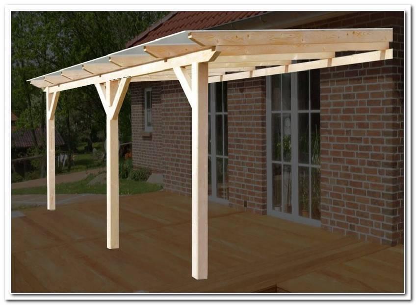 Terrassen?Berdachung Holz Leimbinder