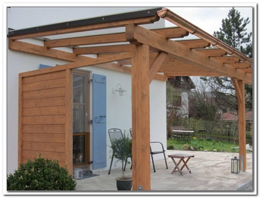 TerrassenBerdachung Holz Massiv