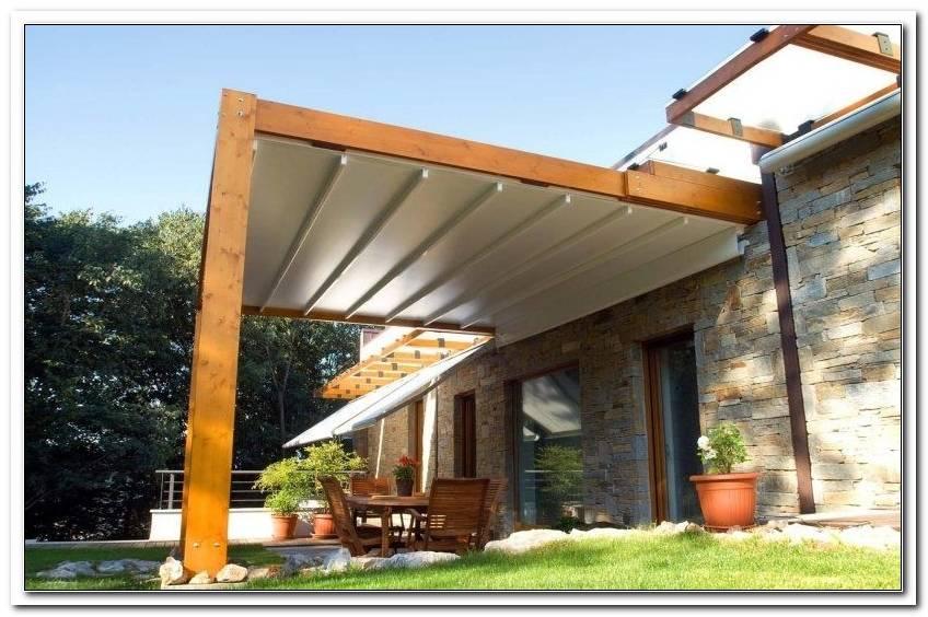 Terrassen?Berdachung Holz Mit Sonnensegel