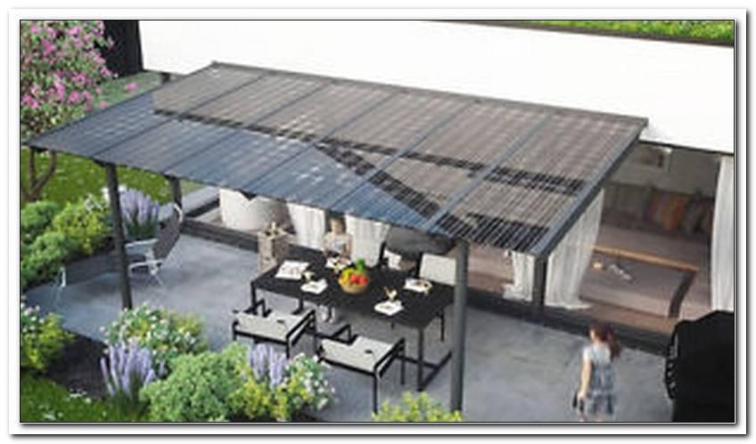 Terrassen?Berdachung Photovoltaik