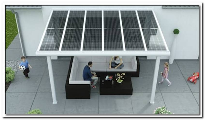 Terrassen?Berdachung Solaranlage