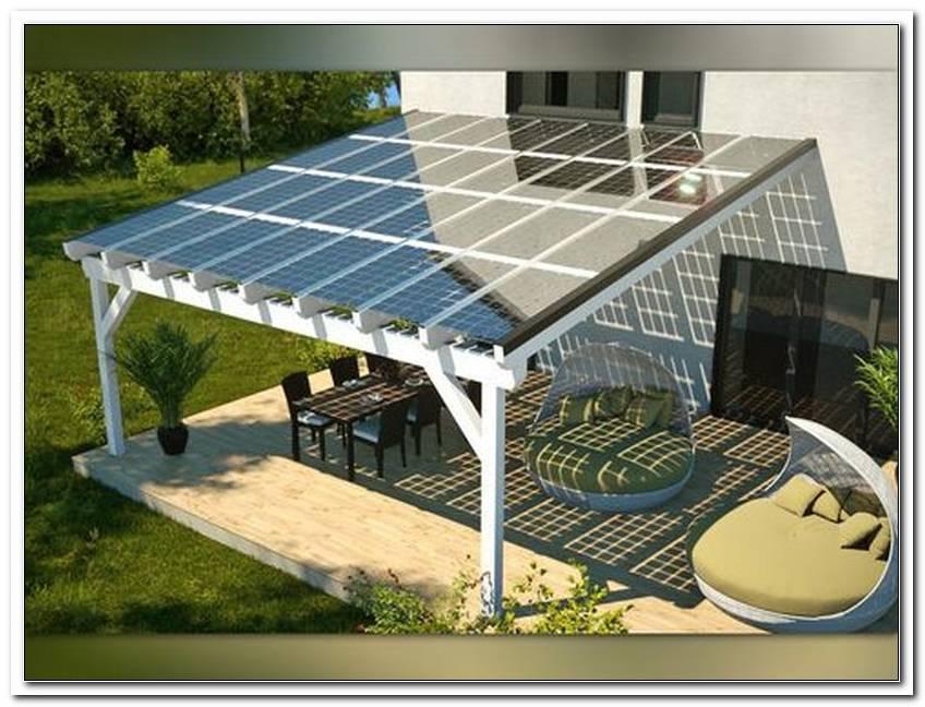 Terrassen?Berdachung Solarpanel