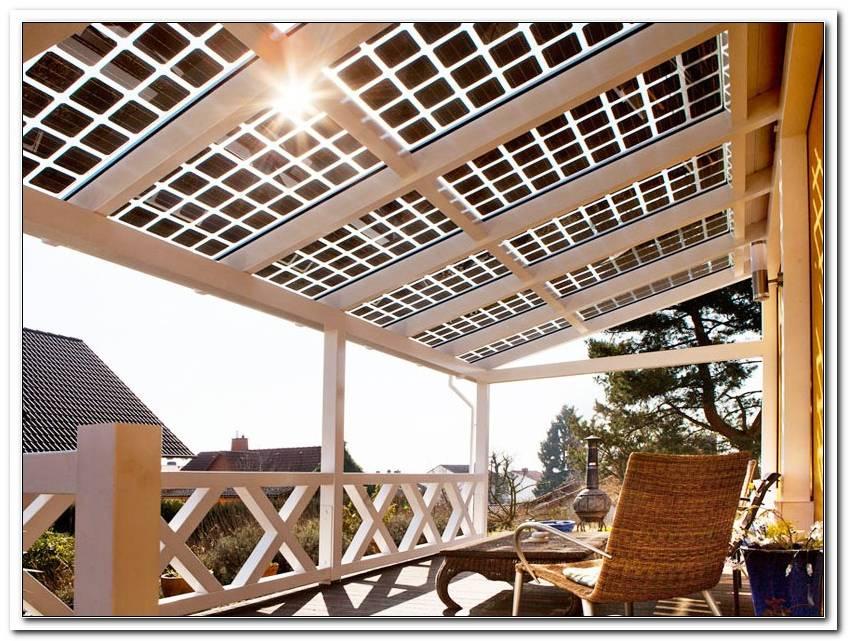 Terrassen?Berdachung Solarzellen