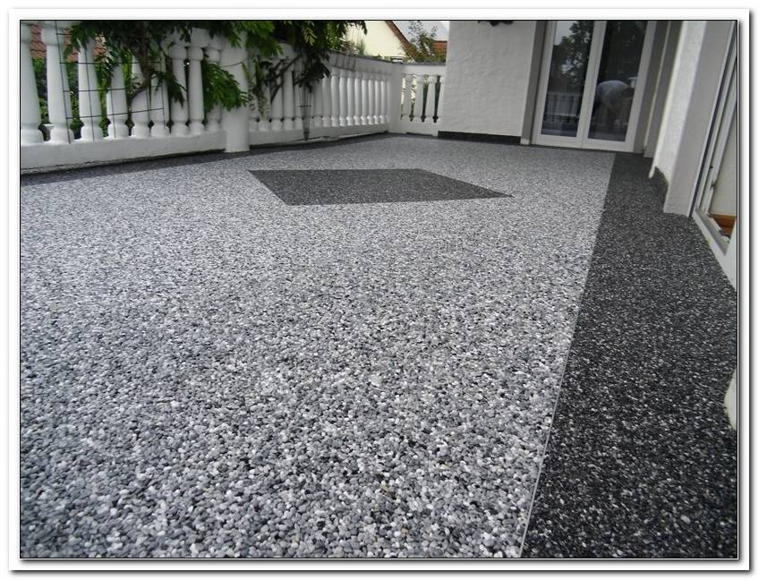 Terrassenbeschichtung Steinteppich