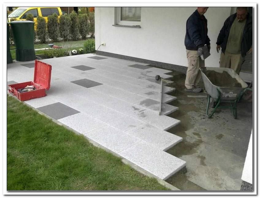 Terrassenplatten Verlegen Anleitung Plattenlager