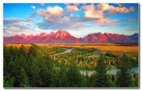 Teton Mountains Landscape