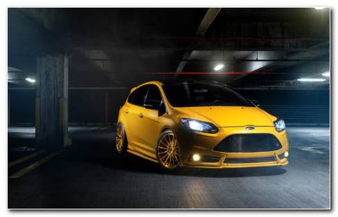The Yellow Ford HD Wallpaper