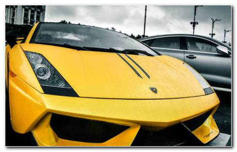 The Yellow Lamborghini HD Wallpaper