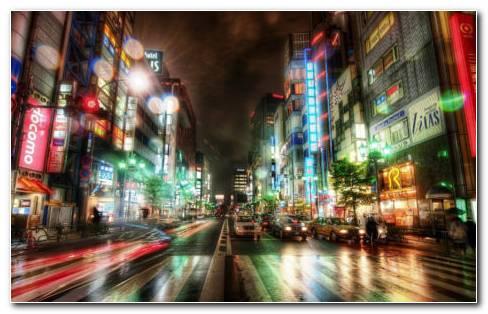 Tokyo Roads HD Wallpaper