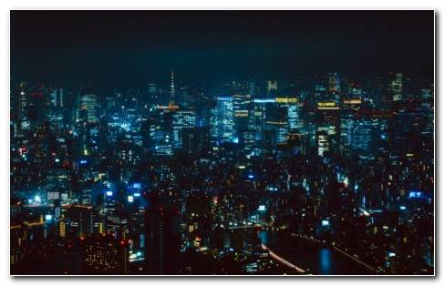 Tokyo Night Market HD Wallpaper