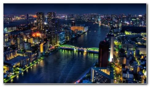 Tokyo Shining Bridge HD Wallpaper