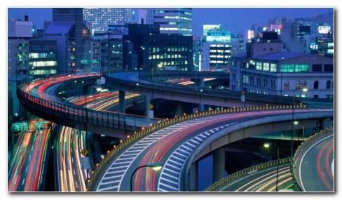 Tokyo Web Of Roads HD Wallpaper