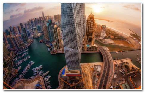 Top View UAE HD Wallpaper