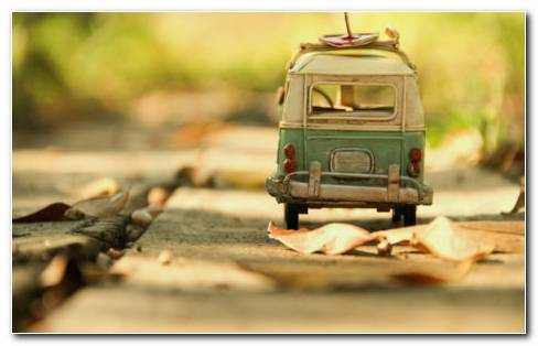 Toy Volkswagen Bus HD Wallpaper