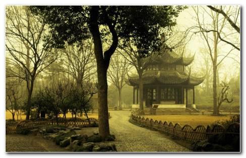 Traditional Japanese Garden HD Wallpaper