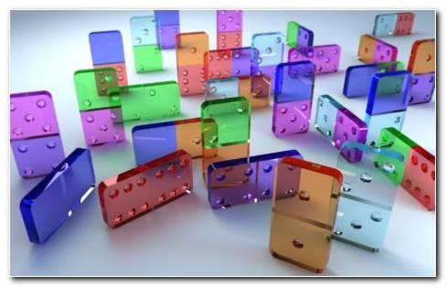 Transparent Dominoes HD Wallpaper