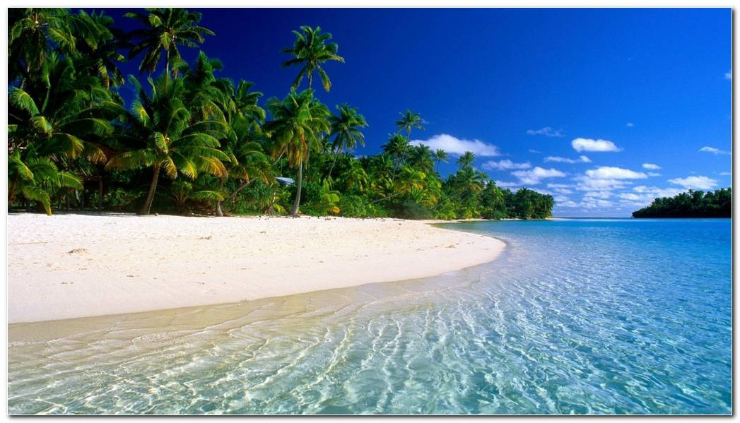 Tropical Beach Water Wallpaper
