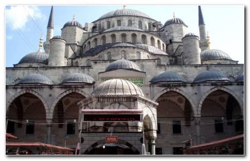 Turkey Big Mosque HD Wallpaper