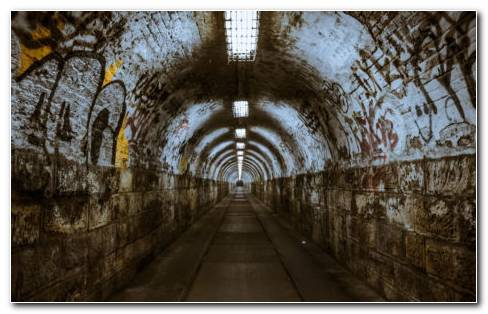 Underground Tunnels HD Wallpaper