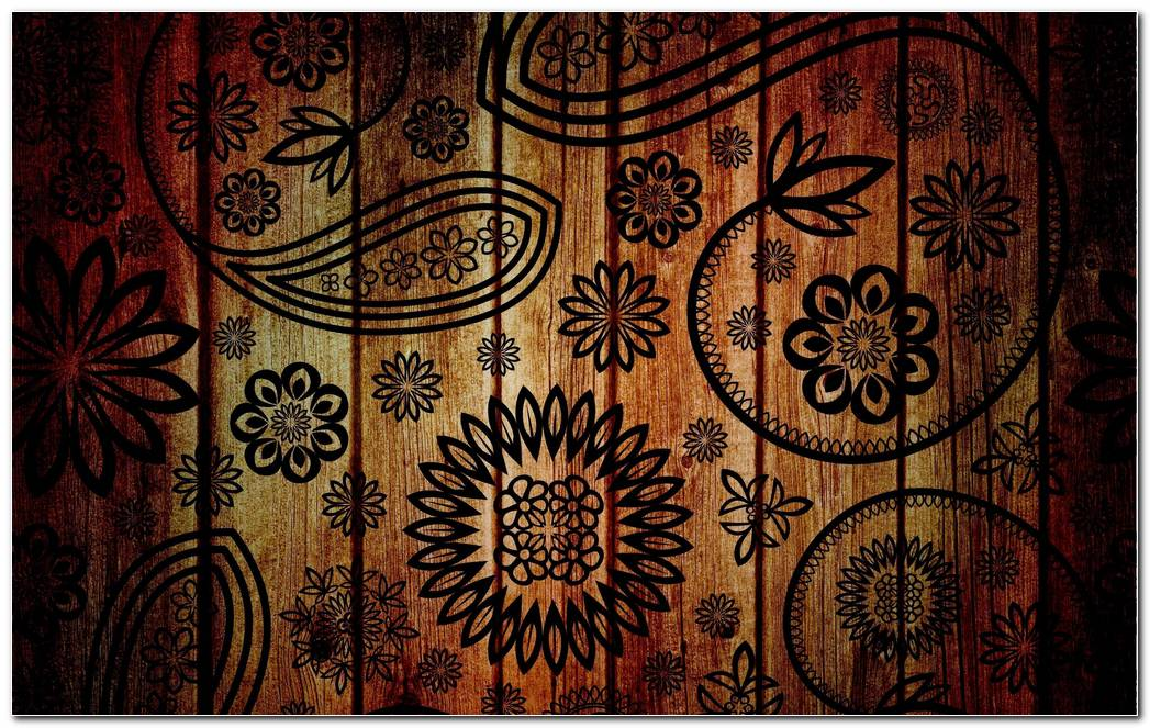 Unique Pattern Brown Background Wallpaper