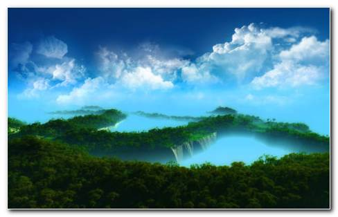 Unreal Landscape HD Wallpaper