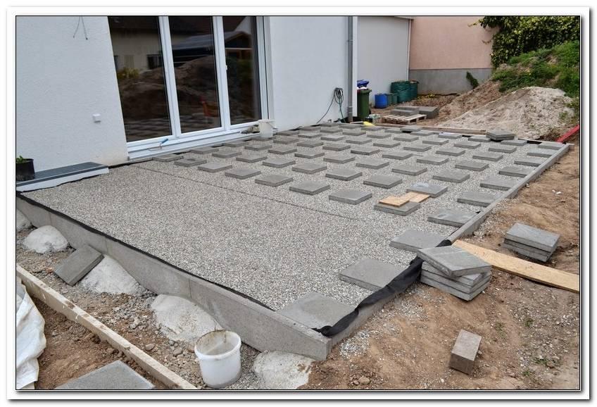 Unterbau Terrasse Schotter
