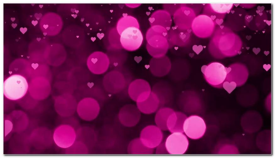 Valentines Day Falling Hearts Background Wallpaper