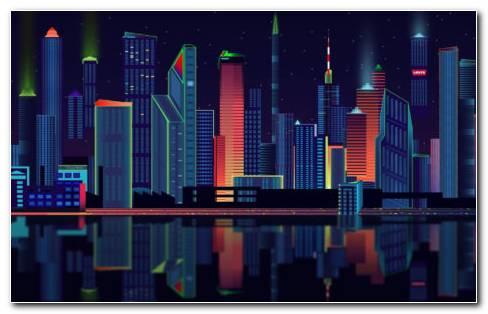 Vector City HD Wallpaper