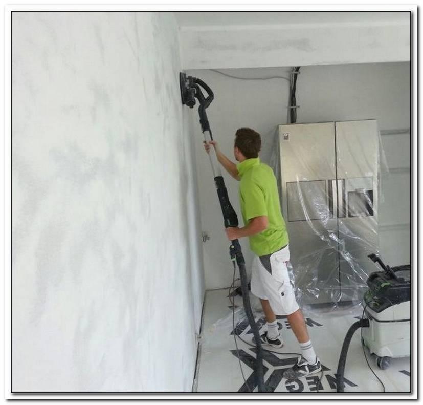 Verputzte Wand Glatt Schleifen